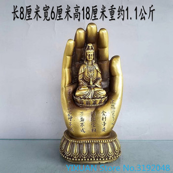 Pure copper Buddha's hand ornament Wuzhishan hand covered heaven Buddhist ornament ornament