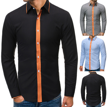 Camisa Male Shirts Long Sleeve Men Shirt Brand Clothing Casual Slim Fit Social Striped Masculina Chemise Homme