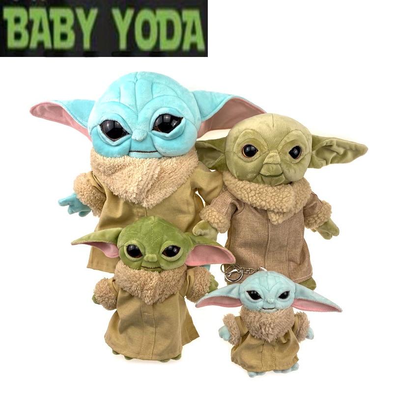 15/20/30cm Star Wars Baby Yoda Plush Peluche Toys Master Yoda Soft Stuffed Cartoon Animal Dolls Keychain Pendants Gift For Kids