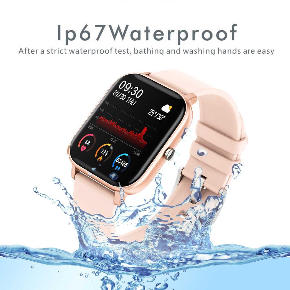 2019 Nuovo 1.4 Pollici Astuto Della Vigilanza Degli Uomini Completa di Tocco Inseguitore di Fitness di Pressione Sanguigna Donne Gts Smartwatch Smartwatch per Iphone/ xiaomi