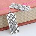 10 шт., брелоки серебряного цвета для компьютерной клавиатуры, подвеска для ежедневного использования, колье, ювелирные изделия 30X14mm A3318