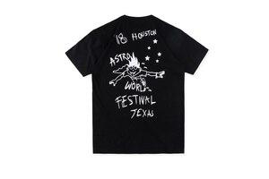 19ss ASTROWORLD T-shirt mężczyźni kobiety Travis Scott Look mama mogę latać festiwal Tee Streetwear Travis Scott Astroworld T Shirt