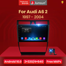 Junsun v1 android 10.0 dsp carplay rádio do carro multimídia player de vídeo estéreo automático gps para audi a6 c5 1997-2004 s6 rs6 2 din dvd