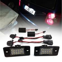 2pcs רכב חינם שגיאת LED מספר לוחית רישוי אור מנורה עבור פולקסווגן טוארג Tiguan גולף 5 פאסאט B5 פורשה קאיין