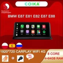 Carplay WIFI 4G Android 10 Hệ Thống Tự Động GPS Navi Cho Xe BMW E87 E81 E82 E88 4 + 64GB 8 Nhân 1920*720 Màn Hình Cảm Ứng IPS Đa Phương Tiện