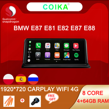 Carplay WIFI 4G Android 10 sistemi oto GPS Navi BMW E87 E81 E82 E88 4 + 64GB 8 çekirdekli 1920*720 IPS dokunmatik ekran araba multimedya