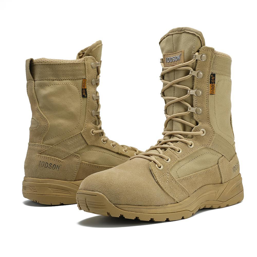 2019 Nieuwe Aankomst Mannen Schoenen Lace up Tactische Militaire Laarzen Comfortabele Ademende Schoenen Werken Veiligheid Laarzen Zapatos De Hombre - 4