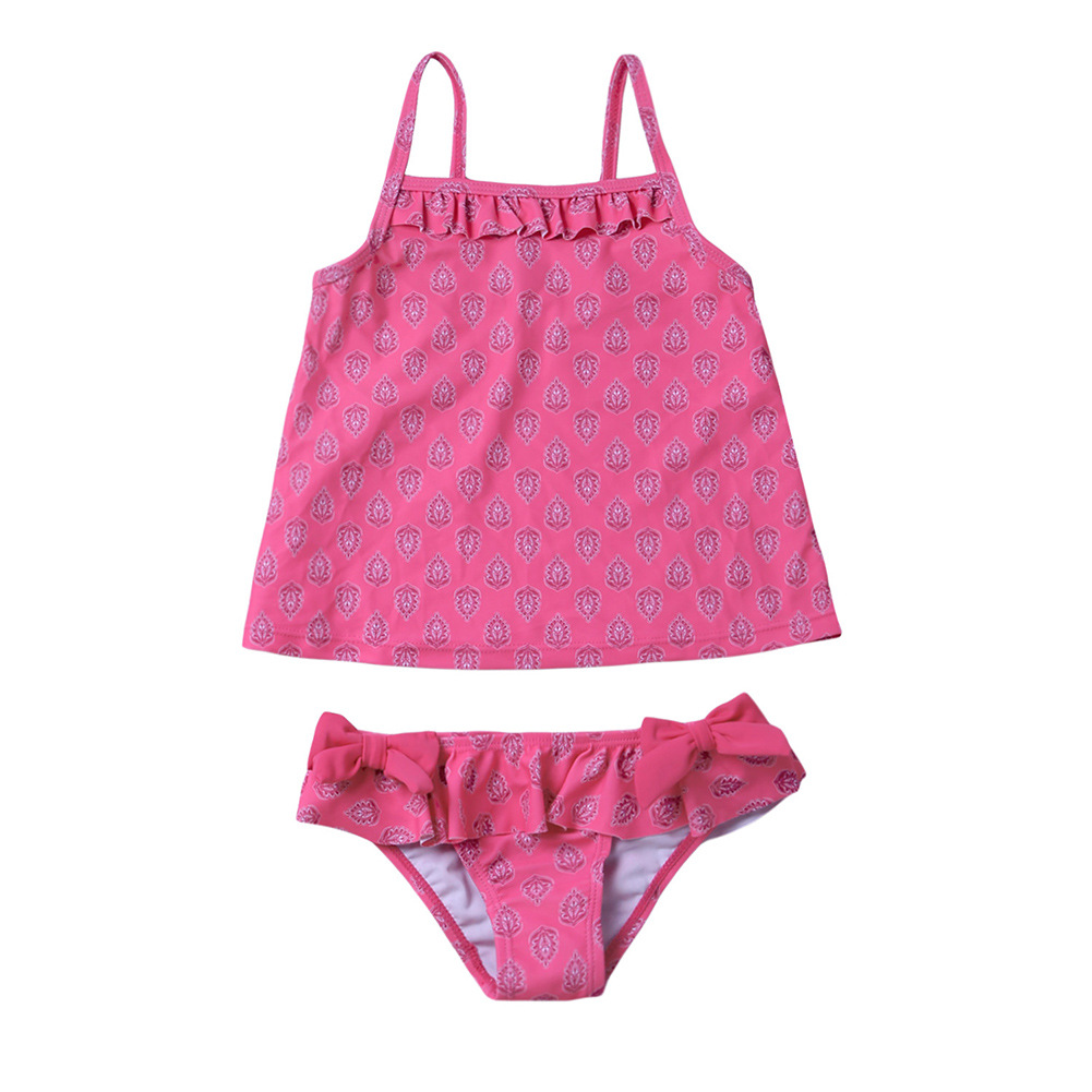 Children Tankini Swimwear Women's Large Children GIRL'S Split Type Swimwear Girls Hot Springs Bathing Suit TZ410032