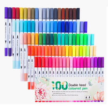 12/24/36/48/60/80/100 Colors set Dual Tip Drawing Painting Watercolor Art Marker Pens  Brush Pen for School Supplies Stationery