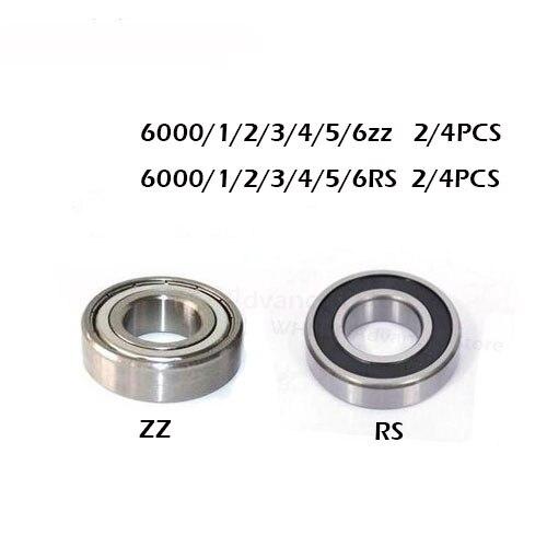 2/4 stücke 6000zz rs 6001ZZ 6002RS 6003-2Z 6004Z 6005-2RS 6005-2RS ZZ RS RZ 2RZ Rillenkugellager Hohe Qualität