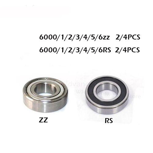2/4pcs 6000zz Rs 6001ZZ 6002RS 6003-2Z 6004Z 6005-2RS 6005-2RS ZZ RS RZ 2RZ Deep Groove Ball Bearings High Quality