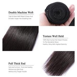 Image 5 - Extensiones de pelo ondulado brasileño lacio 28 30 32 40 pulgadas 1 3 4 mechones Color Natural 100% extensiones de pelo largo humano Remy