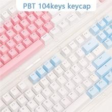 PBT 반투명 백라이트 키 캡 104 키 기계식 키보드 키 캡 체리 MX 용 더블 샷 키 캡