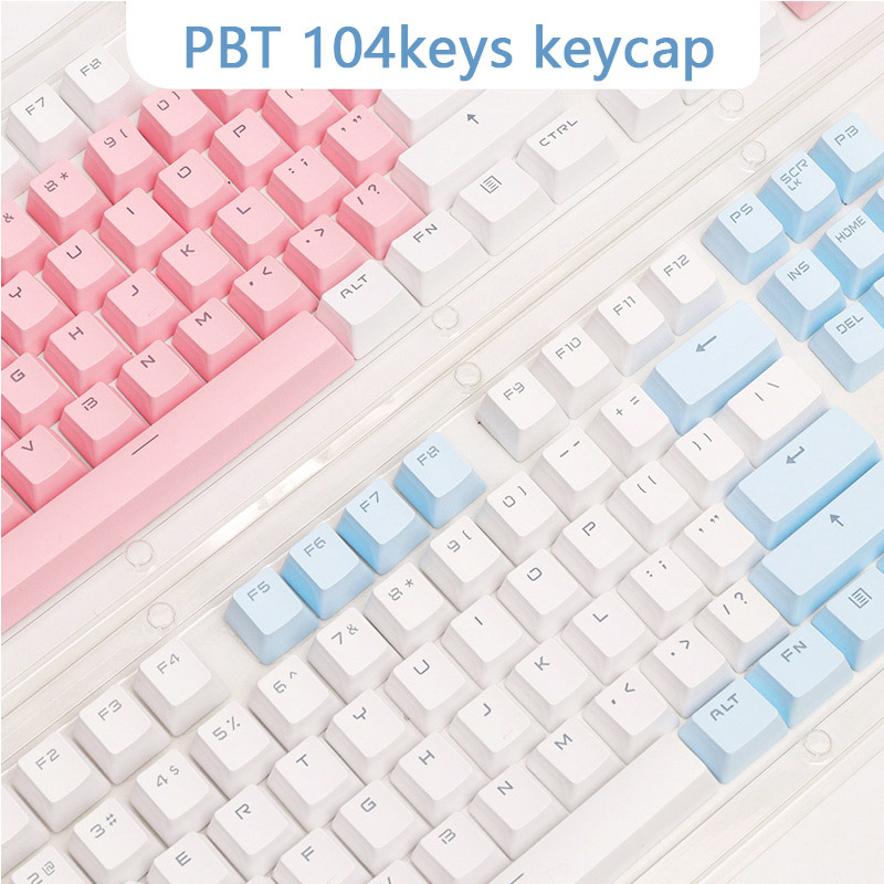 PBT Translucent Backlight Keycaps 104 Keys Mechanical Keyboard Key Cap Double Shot Key Cap For Cherry MX