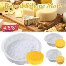 4/6/8inch 3D Silicone Cake Mold Cheese Shaped Baking Dessert Mould Pastry Tools Bakeware Sets Soap Molds(China)