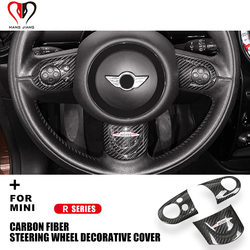 R55 R56 R57 R58 R59 R60 R61 Clubman Countryman für Mini Cooper Lenkrad Abdeckung Carbon Fiber Innen Dekoration Aufkleber