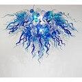 LR187 Free חינם חם חדש אמנות דקו מוראנו הכחול זכוכית נברשת תאורה-בנברשות מתוך פנסים ותאורה באתר