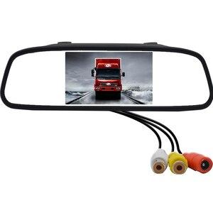 Image 5 - 4,3 дюймовый экран TFT, цветной дисплей, Парковочное зеркало заднего вида, HD автомобильный монитор для камеры заднего вида, ночное видение, Реверсивный