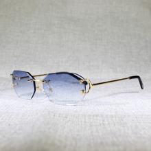 Солнцезащитные очки без оправы для мужчин и женщин винтажные