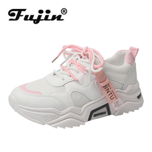 Fujin Spring Summer 2019 Mesh Breathable Fashion Thick Bottom Women Shoes Sneakers Cross Tied Mixed Colors Dropshipping