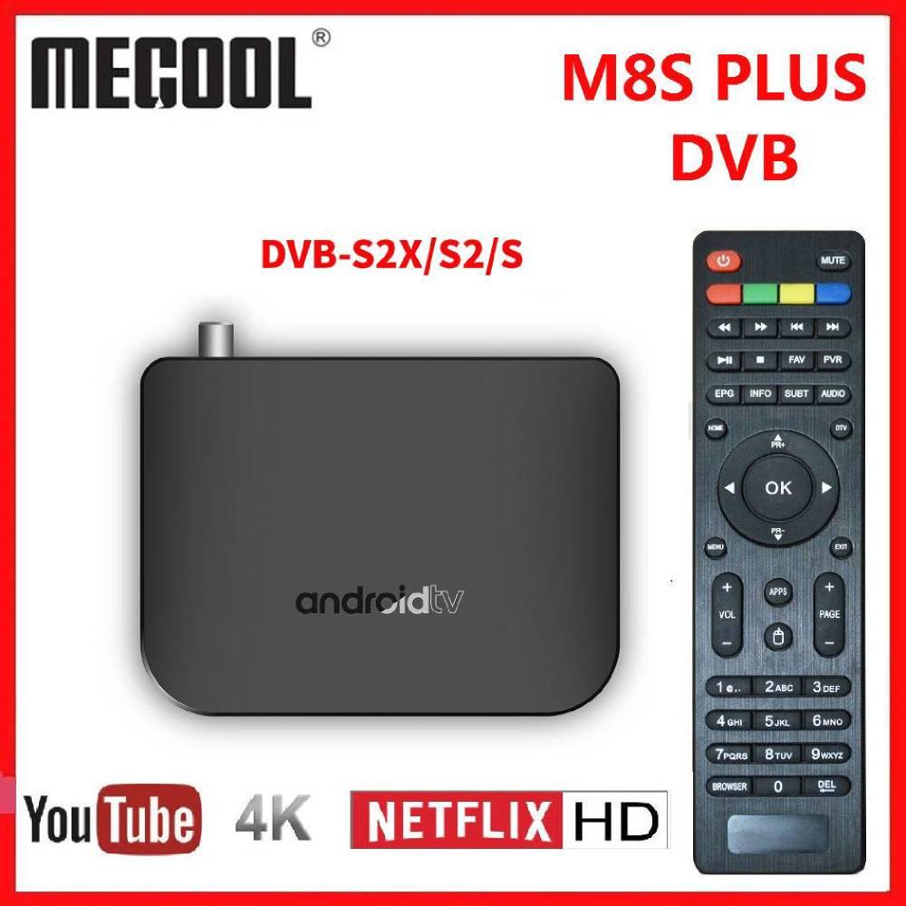 M8S PLUS DVB Smart 4K Android TV Box DVB-S2X/S2/S Terrestrial Combo Amlogic S905D Quad Core 1GB 8GB 1080p