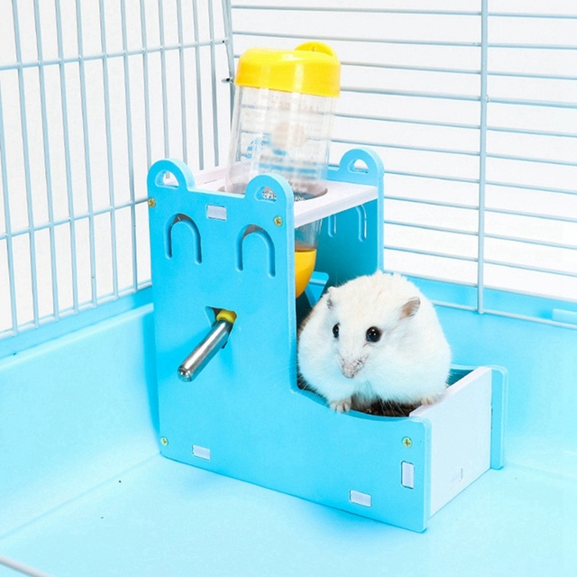 Small Pet Water Bottle Holder Hamster Rabbit Food Feeder Dispenser Nest Toy Drinking Water Distributor For Hamster Rabbit 3