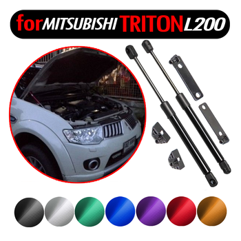 for Mitsubishi Triton L200 Strada Hunter 2005-2014 4x4 Pickup Accessories Front Hood Bonnet Gas Struts Lift Support Damper Shock front hood bonnet gas struts lift support shock damper for mitsubishi lancer ex io type fortis for proton inspira 10 14 absorber