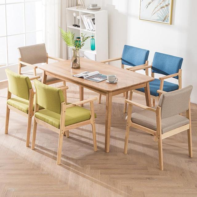 Solid Wood  Modern Minimalist Armrest Chair 2