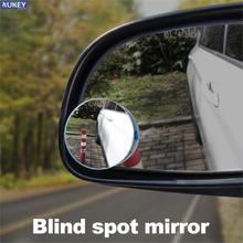 2 шт. Выпуклое HD 360 градусов маленькое круглое зеркало для слепых зон автомобильное широкоугольное зеркало без оправы для парковки заднего в...