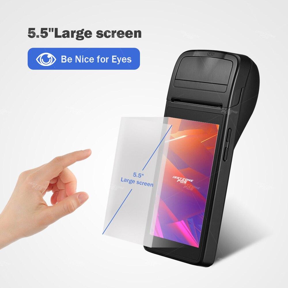 ISSYZZONEPOS PDA Empfang Drucker PDA Android 6,0 POS Thermische Drucker 58mm Handheld POS terminal WIFI Bluetooth 4G PDA für Einzelhandel
