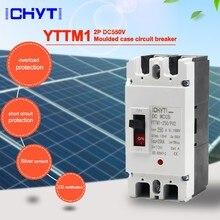 Interruptor principal moldado 2p YTTMI-250 v 160a 200a 250a da bateria solar da c.c. mccb de ichyti 550/pv2 interruptor moldado do disjuntor do caso
