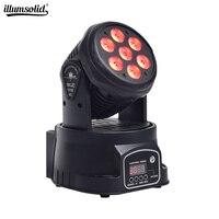 Lampa led z ruchomą głowicą mycia oświetlenie sceniczne 7x12W RGBW 4in1 DMX512 DJ oświetlenie w Oświetlenie sceniczne od Lampy i oświetlenie na
