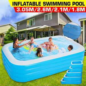Swimming-Pool Inflatable Large Kids Family Bathtub Water-Party Adult Toy 4layer Rectangle