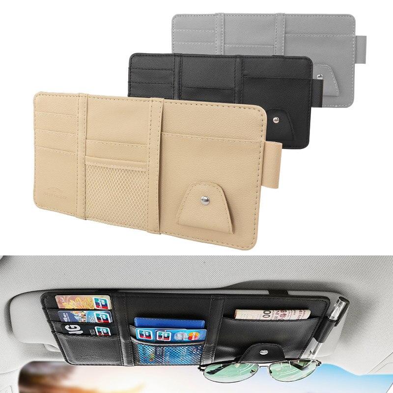 Multifunction Sun Visor Shade Travel Holder Bag Wallet Pocket Pen Storage For Glasses Folder Business Card Holder Bag