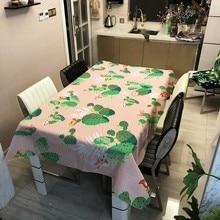 Waterproof Rectangle Tablecloth Cactus…