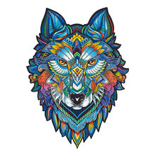 Jigsaw Puzzle owl Wolf Wooden For Adults Children Wood DIY Crafts Animal Shaped