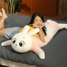 купить Lovely 1PC 80cm-120cm Long Cute Rabbit Plush Toy Soft Cartoon Animal Piggy Stuffed Doll Sofa Bed Pillow Cushion Children Present недорого