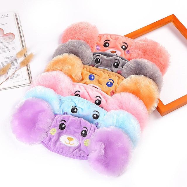 Mother Kids Cute Bear Ear Protective Face Mask Windproof Mouth-muffle Anti Dust Masks Children Anti Haze Flu Cotton Moiuth Masks 1