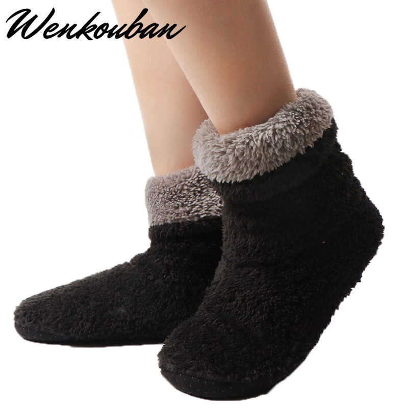 Winter Stiefel Frauen Knöchel Stiefel Warme Pelz Stiefel Weiblich Innen Stiefel Plüsch Hause Schuhe Damen Weiche Socke Schuhe Botines Mujer