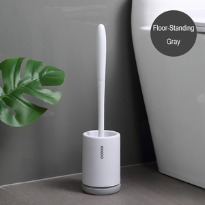 Image 2 - Silicone Toilet Brush With Holder Set Plastic Toilet Bowl Brush Wall mounted or Floor Standing Bathroom Toilet Cleaning Brush