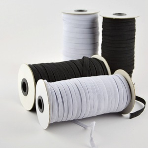 Elastic Bands White and Black 5 Meters 6/8/10/12/15/20/30/35/40mm Polyester Elastic Bands for Clothes Garment Sewing Accessories(China)