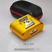 Zimon กรณีโลหะหรูหราสำหรับ Airpods Pro Hard SHELL Anti Fall ป้องกันสำหรับ Apple AIR Pods Pro Coque fundas