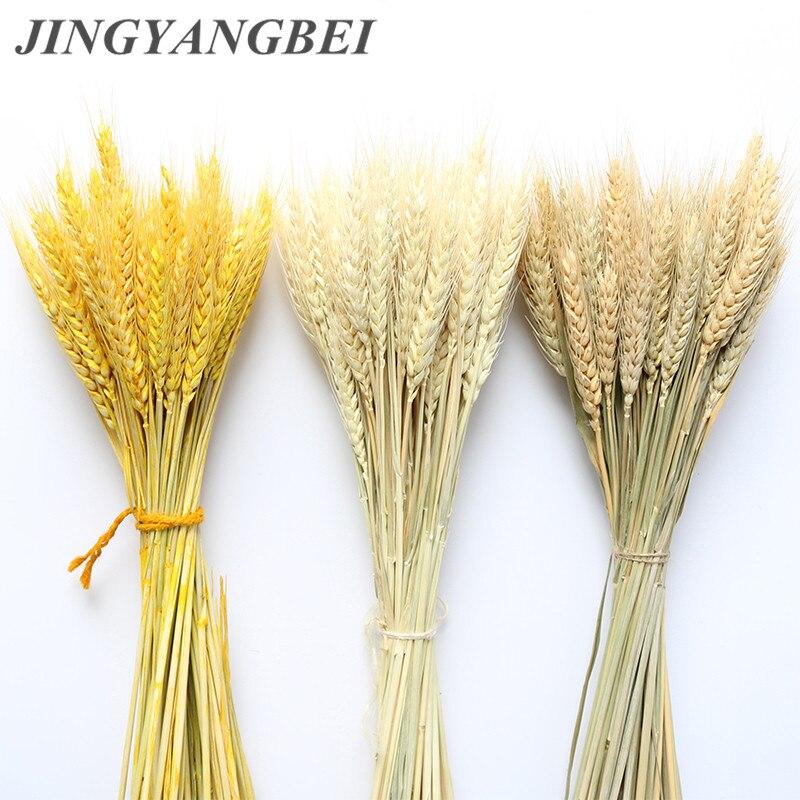 В переменного тока, 50-100 шт. натуральные пшеницы цветок уха натуральные сухие цветы для Свадебная вечеринка украшения для самодельного изго...