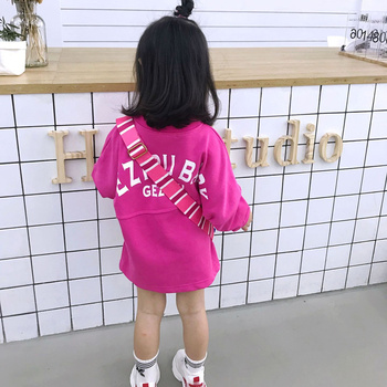 Girls cute college style dress loose long sleeve A-line dress spring and autumn Korean style clothes