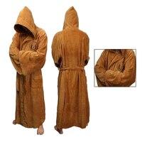 Bata de franela gruesa con capucha para hombre, bata de baño gruesa de Star Wars, albornoz Jedi Empire, Vestido largo de invierno, pijama para hombre