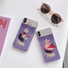 IMIDO Cute Animal Anti-fall  Mirror Silicone PC Case For Huawei p20 pro p30 mate 20pro Cartoon Fashion