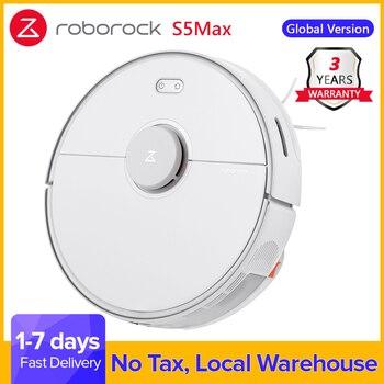 Roborock S5 Max Robot aspirateur automatique sans fil pour tapis sols durs noir S5max maison mise à niveau de Roborock S50 S55