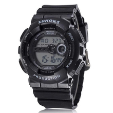SHHORS Fashion Men Watches Men Led Digital Watches Silicone Electronic Watches Men Sports Watches Orologio Uomo reloj hombre cheap WoMaGe 24cm Acrylic Buckle 3Bar 47mm 17 2mm Resin luminous Chronograph Water Resistant Alarm Week Display ROUND 20mm led watch 133810