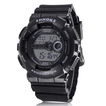 SHHORS modne męskie zegarki mężczyźni Led cyfrowe zegarki silikonowe zegarki elektroniczne mężczyźni sport zegarki Orologio Uomo reloj hombre tanie i dobre opinie WoMaGe 24cm Cyfrowy Akrylowe Klamra 3Bar 47mm 17 2mm Żywica Luminous Chronograph Odporne na wodę Alarm Wyświetlacz tydzień