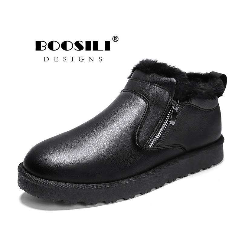 Bota Masculina New Arrival Rushed 2019 Mens Boots With Fur Warm Snow Men Winter Work Shoes Footwear Fashion Rubber Ankle 39-44